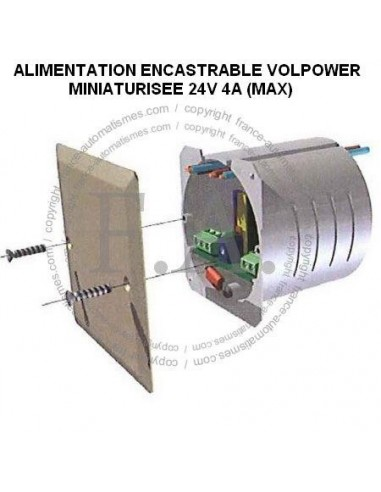 99VOL024 VOLPOWER alimentation encastrable CAME 24V 4A