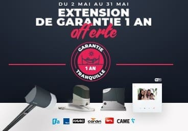 EXCEPTIONNEL ! EXTENSION DE GARANTIE 1 AN OFFERTE